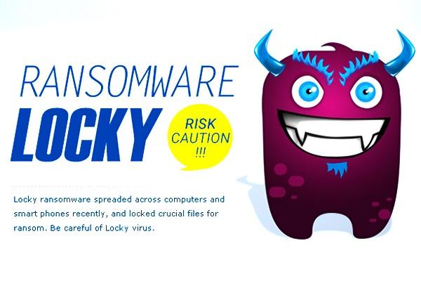 Ransomware lucky virus