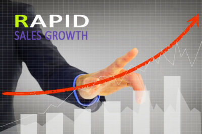 Rapid sales growth
