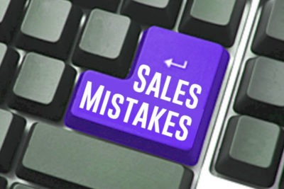 what mistakes users do in sales